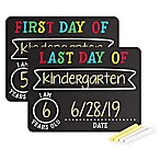 Pearhead First and Last Day Photo Background Chalkboard Signs (Set of 2)
