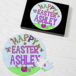26-Piece Happy Easter Puzzle in Blue/Purple