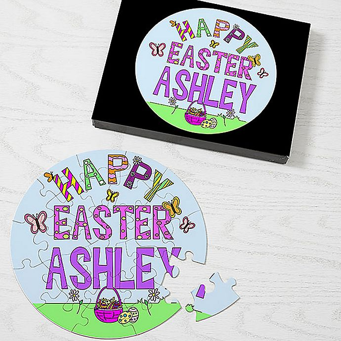 Alternate image 1 for 26-Piece Happy Easter Puzzle in Blue/Purple