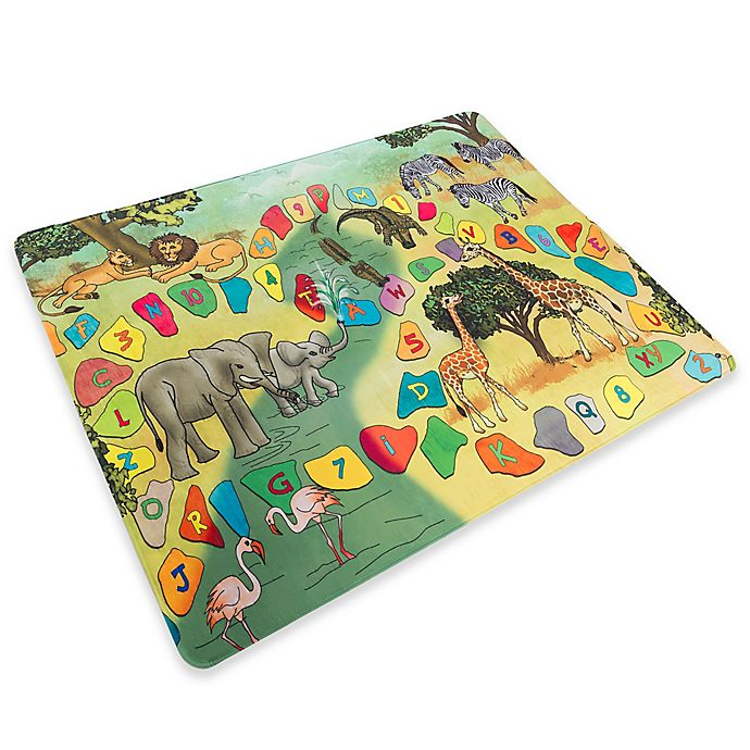 Alternate image 1 for Hey! Play! Safari Animal Foam Baby Play Mat