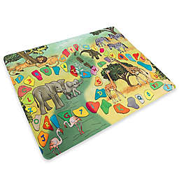 Hey! Play! Safari Animal Foam Baby Play Mat