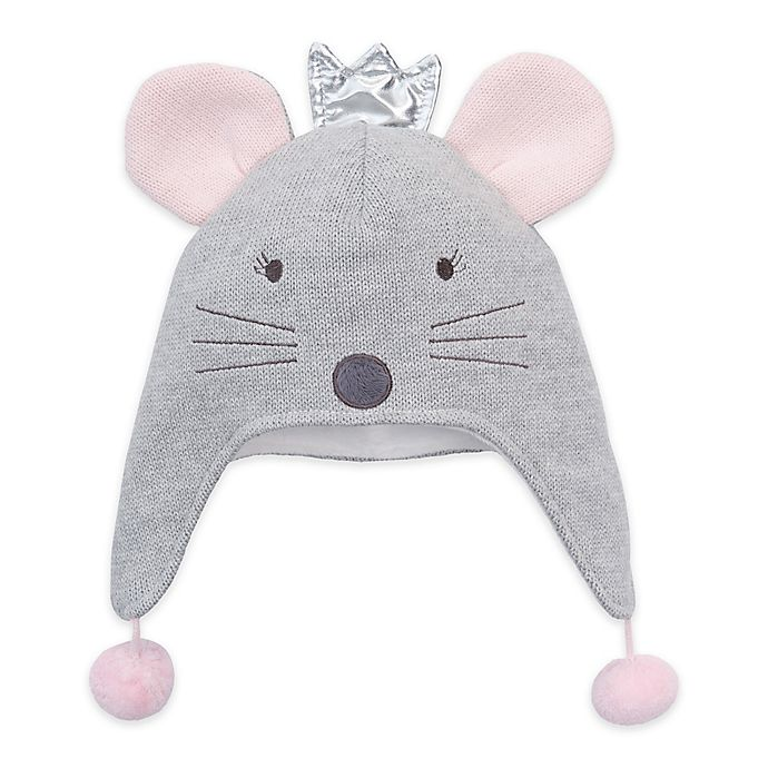 Alternate image 1 for Elegant Baby® Princess Mouse Aviator Hat in Grey