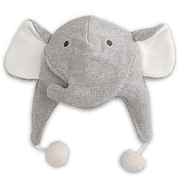 Elegant Baby® Size 0-12M Elephant Aviator Hat in Grey