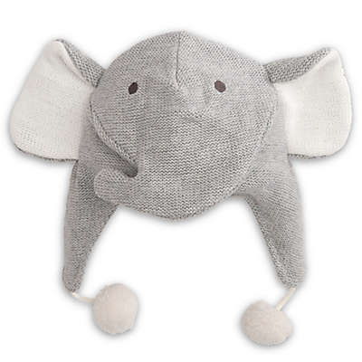 Elegant Baby® Size 0-12M Elephant Aviator Hat in Grey