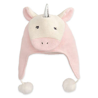Elegant Baby® Unicorn Aviator Hat in Pink