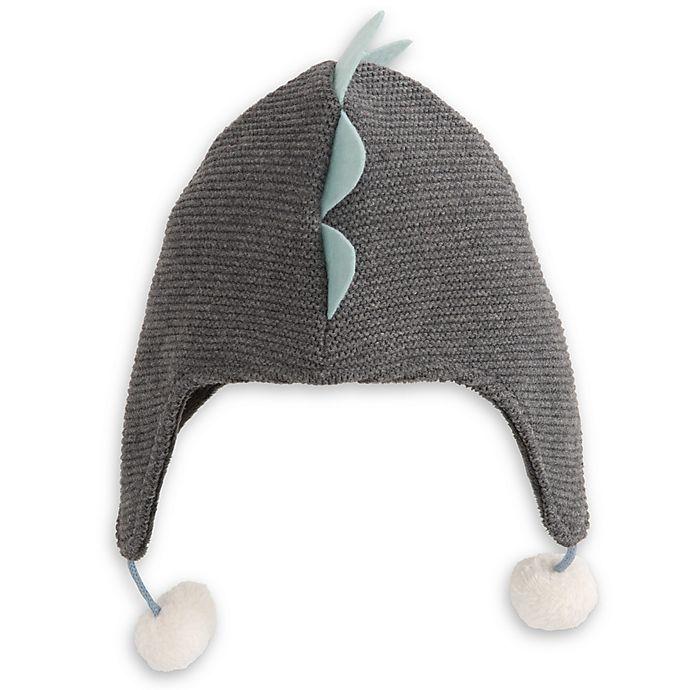 Alternate image 1 for Elegant Baby® Size 0-12M Dinosaur Aviator Hat in Grey