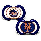 Baby Fanatic® Gen. 3000 MLB New York Mets 2-Pack Pacifiers
