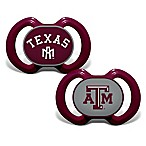 Baby Fanatic® Gen. 3000  Texas A&M 2-Pack Pacifiers