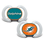 Baby Fanatic® Gen. 3000 NFL Miami Dolphins 2-Pack Pacifiers