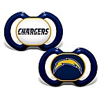 Baby Fanatic® Gen. 3000 NFL Los Angeles Chargers 2-Pack Pacifiers
