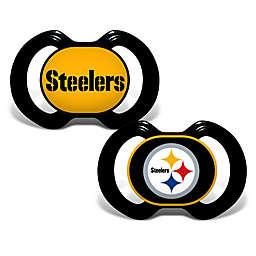 Baby Fanatic® Gen. 3000 NFL Pittsburg Steelers 2-Pack Pacifiers