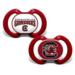 Baby Fanatic® University of South Carolina 2-Pack Orthodontic Pacifiers in Red/White