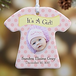 1-Sided It's A Boy or Girl Christmas Photo Ornament