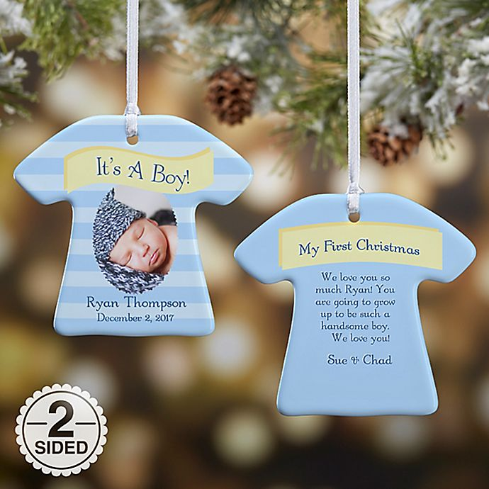 Alternate image 1 for 2-Sided It's A Boy or Girl Photo Christmas Ornament