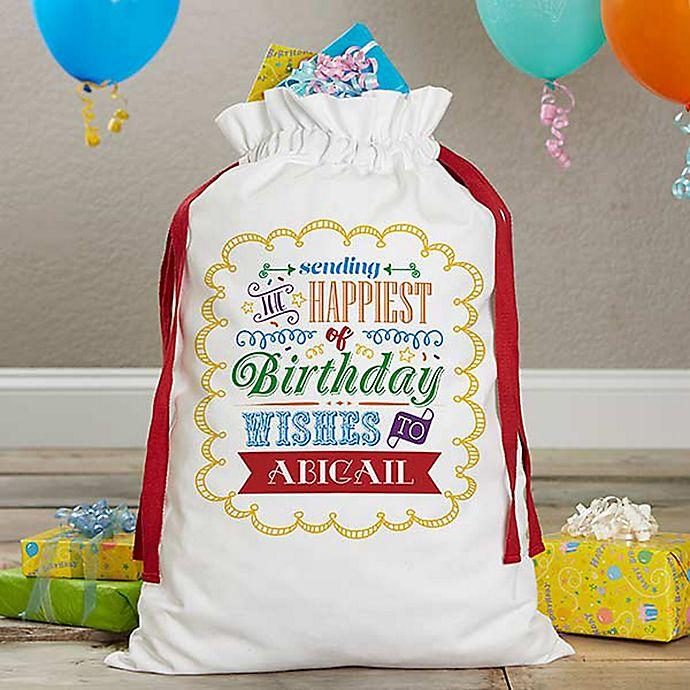 Alternate image 1 for Birthday Toys Canvas Drawstring Toy Bag