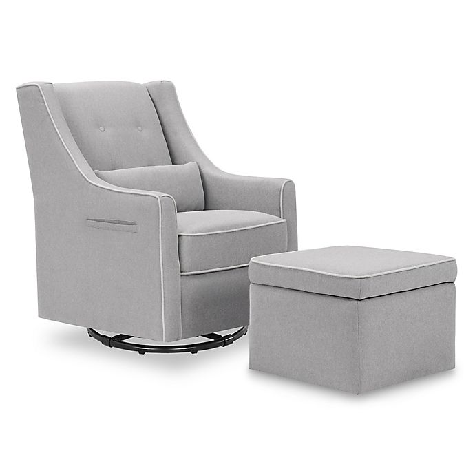 Alternate image 1 for Davinci Owen Glider and Storage Ottoman
