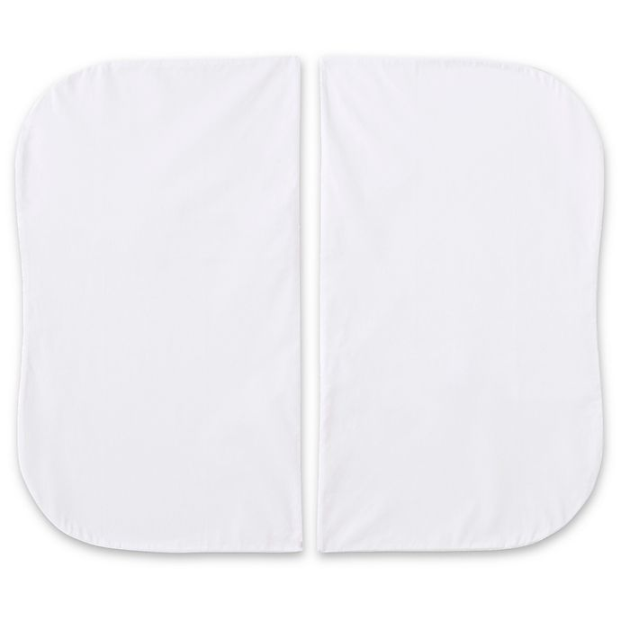 Alternate image 1 for HALO® Bassinest® Twin Sleeper Cotton Fitted Sheets in White (Set of 2)