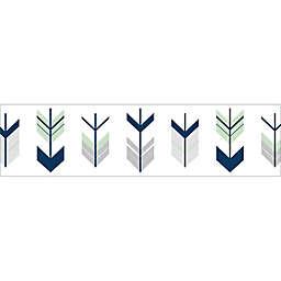 Sweet Jojo Designs Mod Arrow Wallpaper Border in Grey/Mint