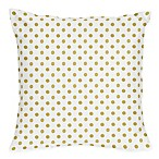 Sweet Jojo Designs Amelia Metallic Gold Polka Dot  Throw Pillows (Set of 2)