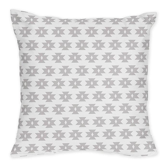 Alternate image 1 for Sweet Jojo Designs Feather Tribal Geometric Print Throw Pillows (Set of 2)