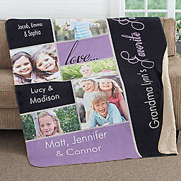 My Favorite Faces Premium Sherpa Throw Blanket