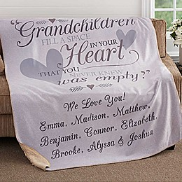 Grandparents Premium Sherpa Throw Blanket