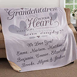 Grandparents Premium Sherpa Throw Blanket