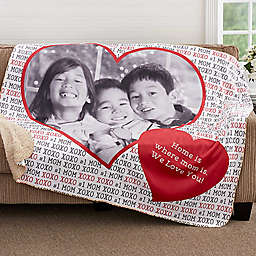 Love You This Much Premium Sherpa Throw Blanket