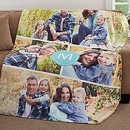 Photo Collage Premium Sherpa Throw Blanket