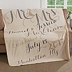 Mr. & Mrs. 50-Inch x 60-Inch Premium Sherpa Throw Blanket