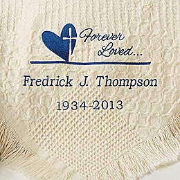 Forever in Our Hearts Personalized Afghan