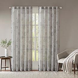 Madison Park Arella Printed Crushed Rod Pocket/Back Tabs Window Curtain Panel Pair