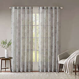 Madison Park Arella Printed Crushed Rod Pocket/Back Tabs Window Curtain Panel Pair