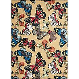Nourison Home & Garden Butterfly Indoor/Outdoor 10' x 13' Area Rug in Yellow