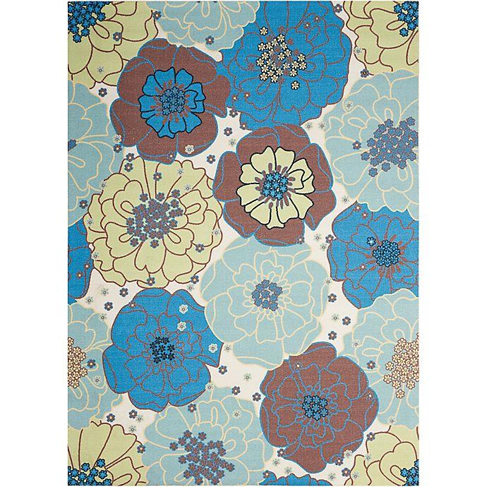 Alternate image 1 for Nourison Home & Garden Indoor/Outdoor 10'x 13' Area Rug in Light Blue