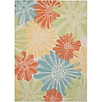 Nourison Home & Garden Indoor/Outdoor 7'9  x 10'10  Area Rug in Ivory