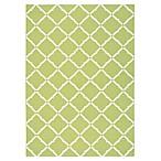 Nourison Home & Garden Indoor/Outdoor 4'4  x 6'3  Area Rug in Light Green