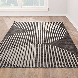 Nikki Chu by Jaipur Living Decora Tangra Indoor/Outdoor Rug in Grey