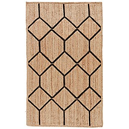 Nikki Chu by Jaipur Living Aten Subra Tribal Rug in Natural/Black