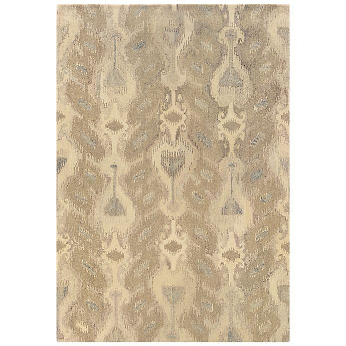 Oriental Weavers Anastasia Ikat Rug In Ivory Beige Bed