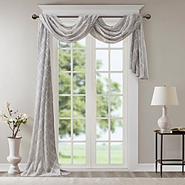 Madison Park Irina Diamond Sheer Window Scarf Valance