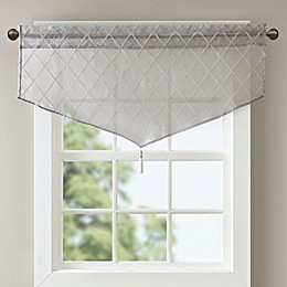 Madison Park Irina Diamond Sheer Ascot Window Valance
