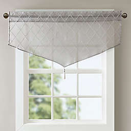 Madison Park Irina Diamond Sheer Ascot Window Valance