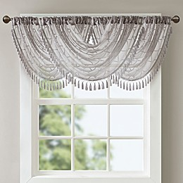 Madison Park Irina Diamond Sheer Waterfall Window Valance