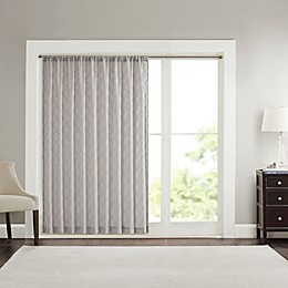 Madison Park Irina Diamond Sheer Rod Pocket Window Curtain Panel