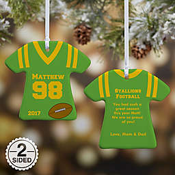 Sports Jersey T-Shirt Christmas Ornament Collection