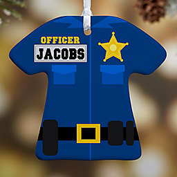 Police Uniform 1-Sided Christmas Ornament