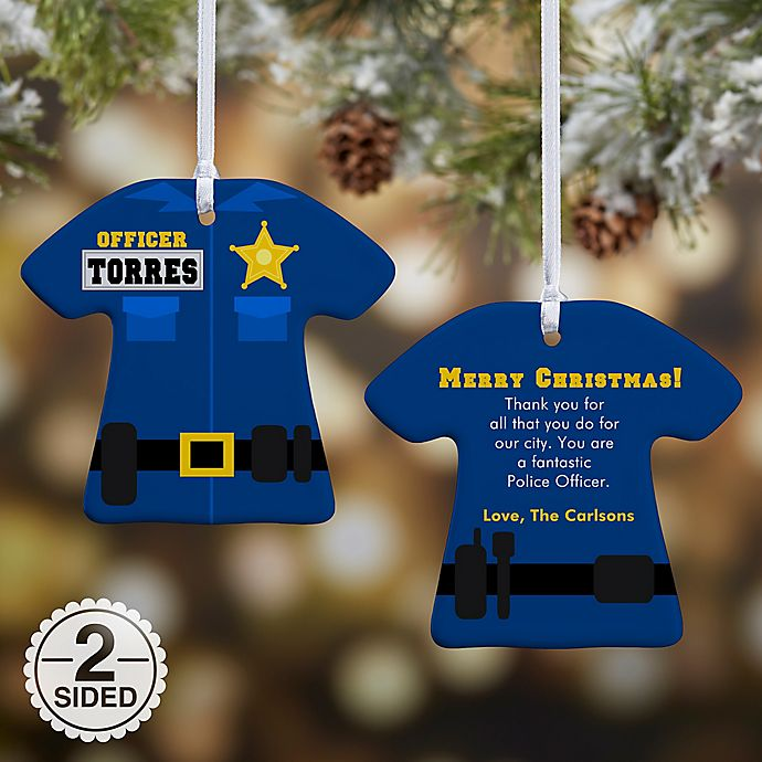 Alternate image 1 for Police Uniform Christmas Ornament Collection