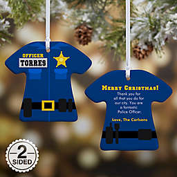 Police Uniform Christmas Ornament Collection