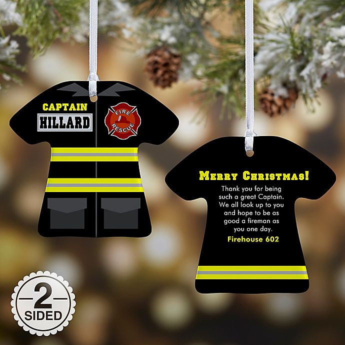 Alternate image 1 for Firefighter Uniform Christmas Ornament Collection